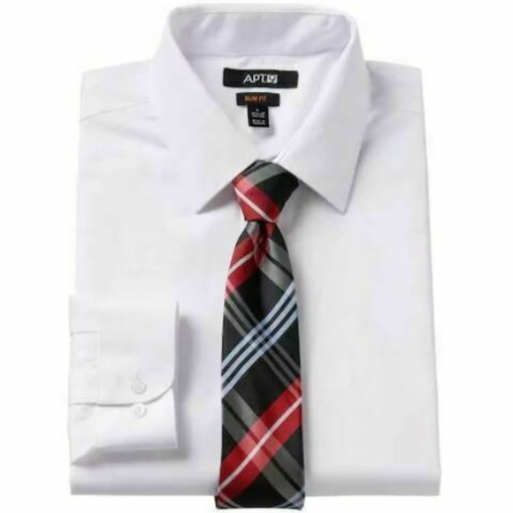 Apt. 9 Other - Apt. 9 Dress Shirt Tie Men's White 18.5-19 34/35